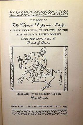 THE BOOK OF A THOUSAND NIGHTS AND A NIGHT. A Plain and Literal Translation of the Arabian Nights...