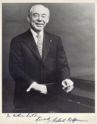 SIGNED PHOTOGRAPH. Richard RODGERS