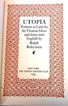 UTOPIA. Sir Thomas MORE
