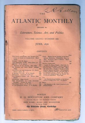"""The Facts Concerning the Recent Carnival of Crime in Connecticut"" in THE ATLANTIC MONTHLY, June,..."