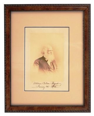 SIGNED PHOTOGRAPH. William Cullen BRYANT